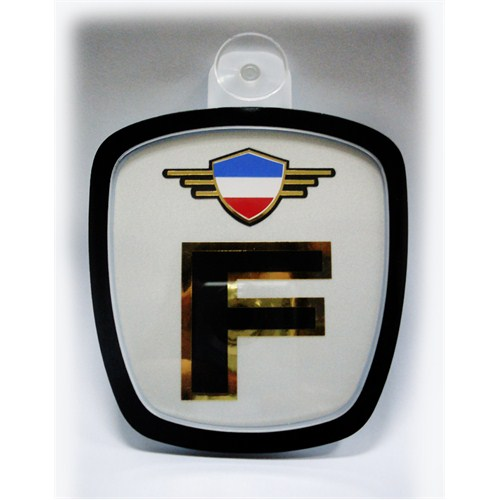Z tech Fransa Bayrak Logolu Pleksi Araç İçi Logo
