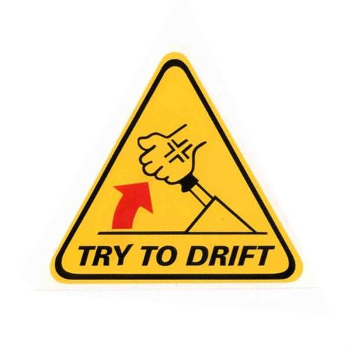 "Z tech ""Drift Deneyin"" Sticker 13 x 12 cm"