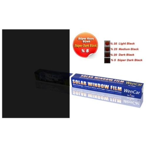 Çizilmez Rulo Cam Filmi S.Dark Black %5 (Süper Koyu Siyah) 100 cm x 3 MT 1004705