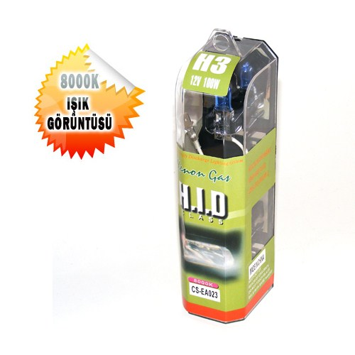 H.I.D Xenon Tip Far Ampülü H3 12V/100W Gerçek Beyaz 1004881