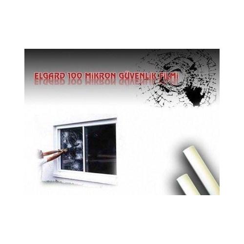 Elgard 100 Mikron 4 Mıl Şeffaf Güvenlik Cam Filmi 1241
