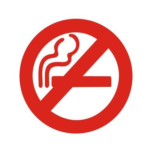 Z tech Sigara içilmez işareti stickerı kırmızı (6x6cm)
