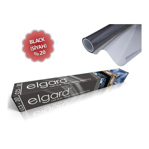 Elgard Black (Orta Koyu Siyah) Çizilmez Cam Filmi CCS-20 (50cm x 6m)