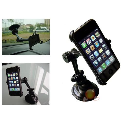 Dreamcar Iphone 3-4 Tutucu Vantuzlu (Sallanmayan,Sessiz,Çok Yöne Dönebilen Kollu) 01410