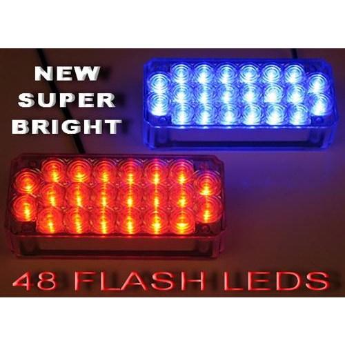 Dreamcar Panjur İçi Flash Lamba 44 Led Kırmızı-Mavi Takım Profesyonel 56440