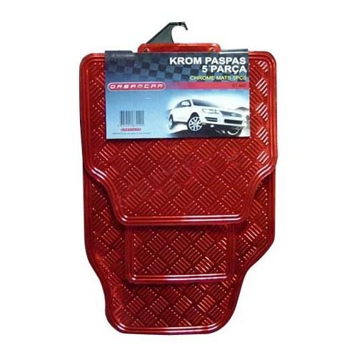 Dreamcar Krom Paspas 5 Parça Kırmızı 6742002