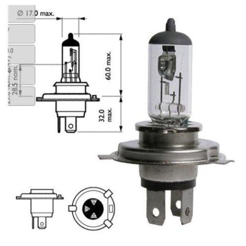 ModaCar H4 100 Watt HALOGEN/QUARTZ Far Ampül 841148