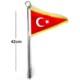 Carub Bayrak Direği Kalın Krom Gövde Boy:42Cm