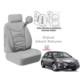 Süslenoto Honda Civic 2006-2012 Gri Oto Koltuk Kılıfı Ortopedik