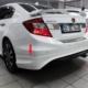 Civic Honda 2012- Sonrası Modulo Arka Tampon Eki - Boyasız