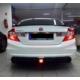 Civic Honda 2012 - Sonrası Rr Arka Tampon Çift Çıkışlı - Boyalı