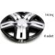 ModaCar 2S Racing 14 İnç GRİ+SİYAH Jant Kapağı 4 lü Set 104849