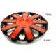 ModaCar 2S Racing 15 İnç KRIMIZI+SİYAH Jant Kapağı 4 lü Set 104851