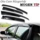Tvet Dacia Duster Mugen Cam Rüzgarlığı 4'lü Tk