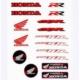 Prc Motosiklet Damla Etiket Seti Honda ( Tankpad Mazemesinden )