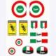 Prc Motosiklet Damla Etiket Seti Vespa ( Tankpad Mazemesinden )