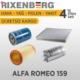 Rixenberg Filters Alfa Romeo 159 4'Lü Filtre Seti
