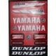 Motospartan Motosiklet Sticker 662 Küçük Yamaha Yazılı Kırmızı
