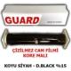 Tvet Cam Filmi Çizilmez %15 Koyu Siyah ( Dark Black ) 50Cm * 60M Guard