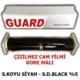 Tvet Cam Filmi Çizilmez %05 Süper Koyu Siyah ( Super Dark Black ) 50Cm * 60M Guard