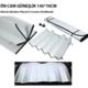 Tvet Oto Ön Cam Güneşlik Balonlu Araba Güneşliği 145 Cm 70 Cm