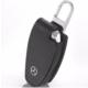 Boostzone Mercedes Çıtçıtlı Deri Anahtarlık Kumanda Kabı Siyah