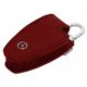 Boostzone Mercedes Çıtçıtlı Deri Anahtarlık Kumanda Kabı Kırmızı