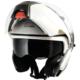 CGM Singapore Beyaz Çene Açılır Motosiklet Kaskı 505A-BLV-14B Small