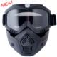 CGM Goggles Mask- Açık Motosiklet Kaskları İçin Siyah Maske 740M-A01-01A