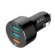 Aukey Araç İçi Şarj Cihazı Hızlı Şarj Qualcomm 3.0 Ve 2 Usb