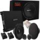 PS-100 Oto Performans Ful Set Ses Sistemi + Kablo Hediyeli