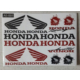 Motosiklet Sticker Seti Küçük Karışık Yazılı A5-001 Honda