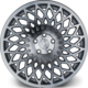 "ARCEO L965 18""Ford - Volvo 9.5 Offset 5x108 ET35 Silver Machined Jant"