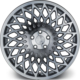 "ARCEO L966 18"" Opel - Chevrolet 8.5 Offset 5x105 ET35 Silver Machined Jant"