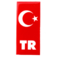 ModaCar Plaka İçin TR Bölümüne Damla Türk Bayrağı 060025
