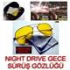 Night Drive Metal Çerçeve Gece Sürüş Gözlüğü Çanta Ve Bez Hediyeli 9712002