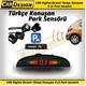 CarDesign Digital Ekranlı Türkçe Konuşan 4 Lü Park Sensörü