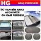 Otocontrol Ön Arka Ve Yan Cam Perde 3 lü Set 39199