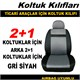Volkswagen Caddy Koltuk Kılıfı Gri Siyah 39441