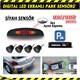 AutoCet SİYAH Ultra Led Ekranlı Sesli Park Sensörü 3467a
