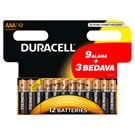 Duracell Alkalin AAA Ince Kalem Pil (9+3) 12'li Paket