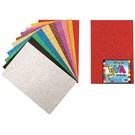 Nova Color Nc-365 Eva Simli Yapışkanlı 50x70 cm 10 Renk Karışık Fon Kartonu