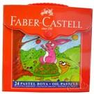 Faber-Castell Plastik Çantalı Tutuculu Pastel Boya 24 Renk (5281125125)