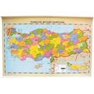 İnter 70x100 Türkiye Fiziki-Siyasi Haritası (Çift Taraflı Çıtalı) INT-820