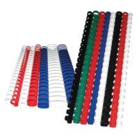 Sistem Spiral 18 mm Plastik Siyah 100 lü Cilt Spirali