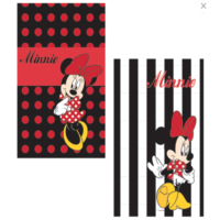 Minnie Mouse Sert Kapalı Çizgili Defter- 96 yaprak 13x21cm