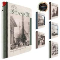 Gıpta İstanbul Retro İplik Dikişli Sert Kapak Defter 9x14 Çizgili 96yp 2319
