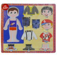 Bu-Bu Kız-Erkek Giydirme Ahşap Puzzle 30X30Cm BUBU-AP0047