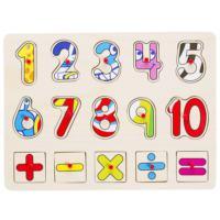 Bu-Bu Ahşap Puzzle Rakamlar 30,2X22,5X0,8Cm BUBU-AP0042