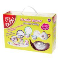 Bu-Bu Porselen Boyama Çay Seti Çantalı 13 Parça BUBU-PB0007